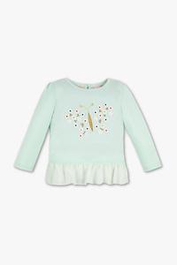 Baby Club         Baby-Langarmshirt - Bio-Baumwolle - Glanz Effekt