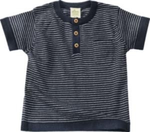 ALANA Baby-Shirt, Gr. 80, in Bio-Baumwolle, blau, weiß, für Mädchen und Jungen