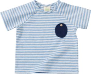 ALANA Baby-Shirt, Gr. 68, in Bio-Baumwolle und Elasthan, blau, weiß, für Mädchen und Jungen