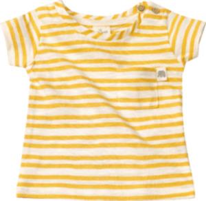 ALANA Baby-Shirt, Gr. 68, in Bio-Baumwolle, gelb, weiß, für Mädchen und Jungen