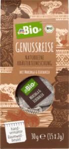 dmBio Kräuter-Tee Genussreise, Teemischung mit Moringa & Echinacea (15x2g)