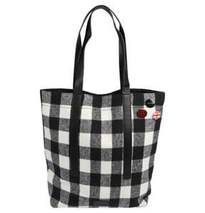 "ESPRIT             Shopper ""Warakusi"", Textil, Karomuster, Buttons"