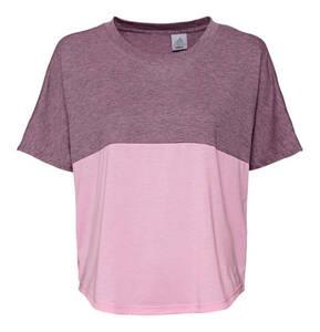 adidas             T-Shirt, elastisch, meliert, für Damen