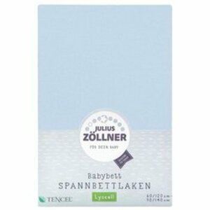 Zöllner - Spannbetttuch Tencel hellblau (70x140)
