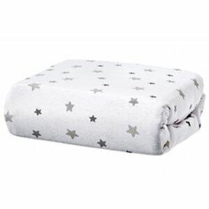 Domiva - Spannbetttuch 1er Pack Sterne grau (70x140)