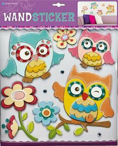 Wandsticker Eulen