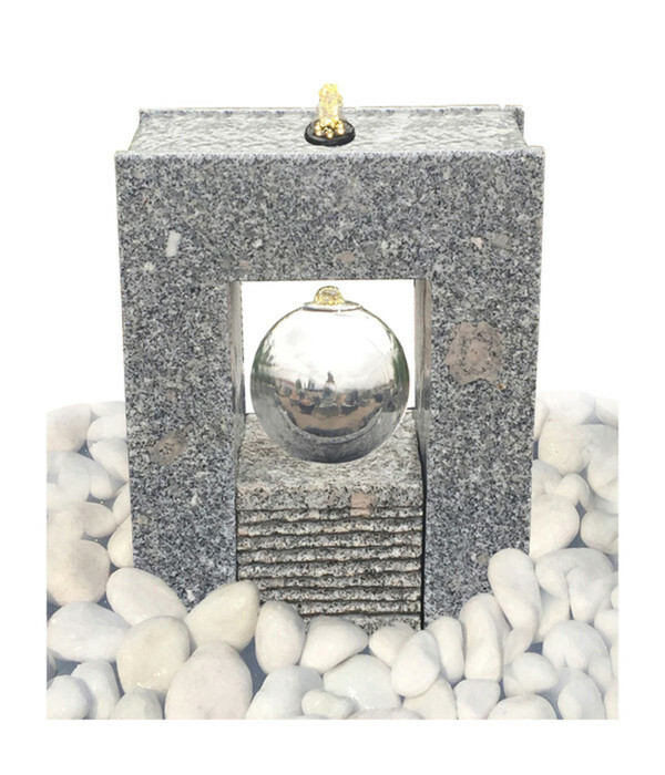Dehner Granit-Gartenbrunnen Manhattan, ca. B32/H40/T15 cm