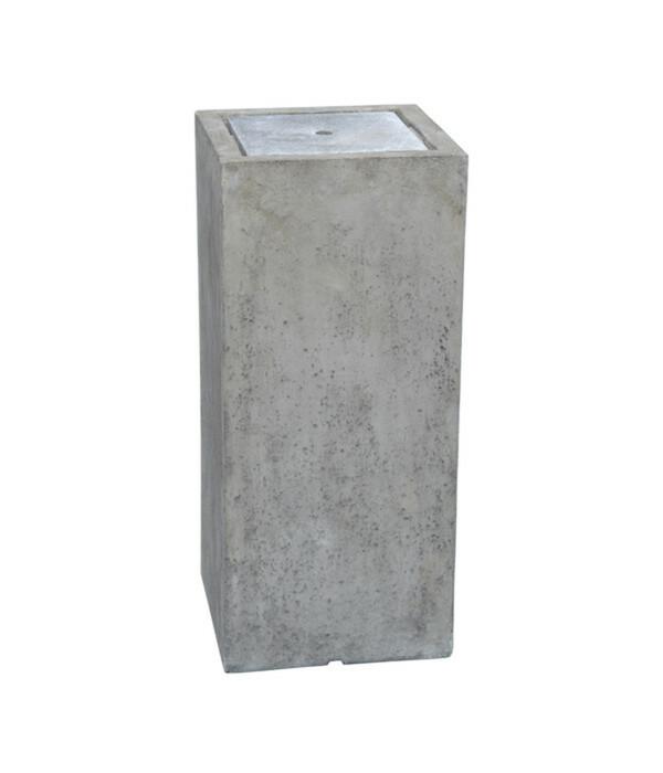 Dehner Leichtbeton-Gartenbrunnen High Cube, 35 x 35 x 80 cm