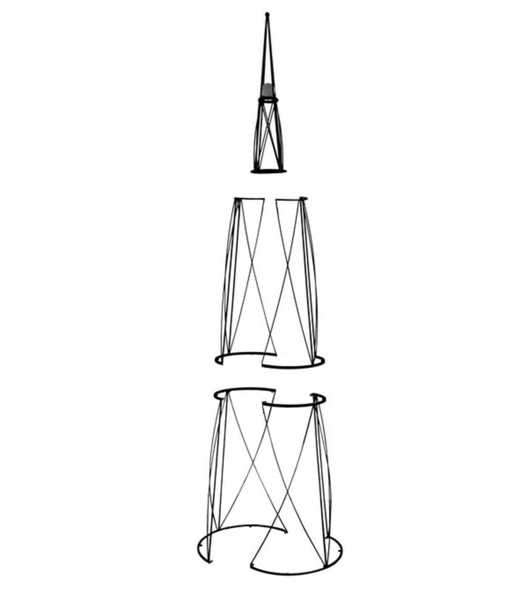 Bild 3 von Rankhilfe Obelisk mit Glaskugel, 2,7 m