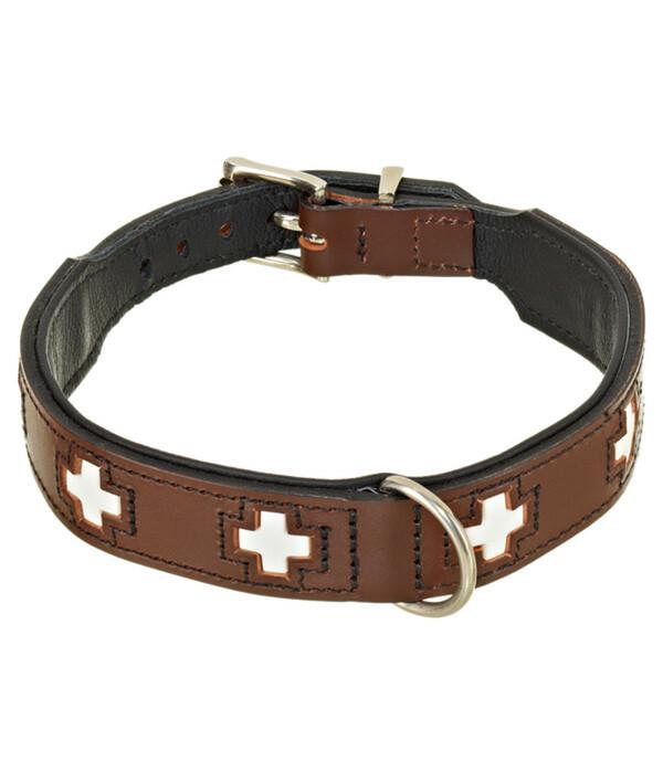 "HUNTER Hundehalsband ""Swiss"", braun/schwarz"