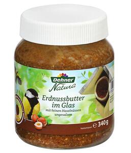 Dehner Natura Erdnussbutter im Glas mit feinen Haselnüssen