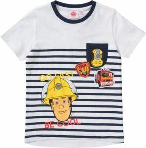 Feuerwehrmann Sam T-Shirt blau/weiß Gr. 128/134 Jungen Kinder