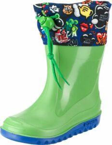 Kinder Gummistiefel COMIC grün Gr. 25
