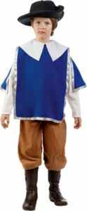 Kostüm Musketier, 3-tlg. Gr. 140/152