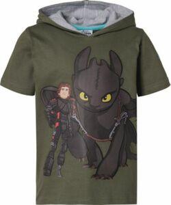 Dragons T-Shirt mit Kapuze grün Gr. 140/146 Jungen Kinder