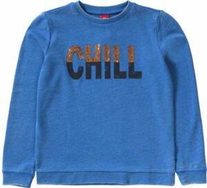 Sweatshirt mit Pailletten blau Gr. 134/140 Mädchen Kinder
