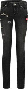Jeans mit Patches und Bandana schwarz Gr. 176 Mädchen Kinder