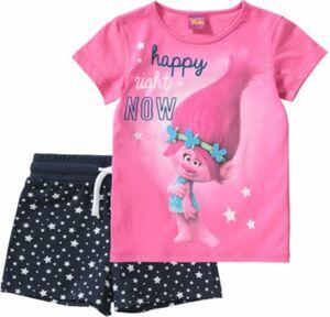 Trolls Schlafanzug pink/blau Gr. 92/98 Mädchen Kleinkinder