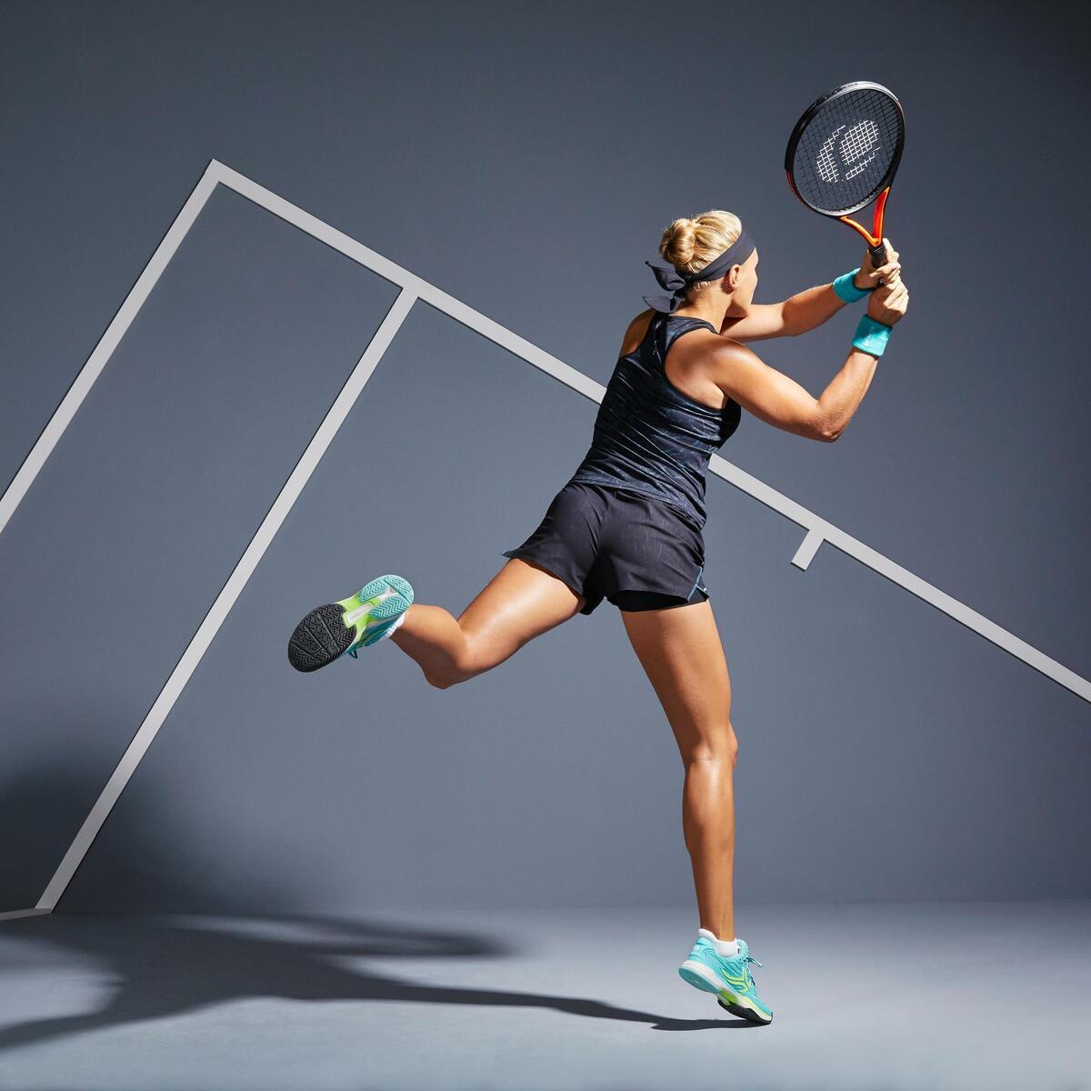 Bild 3 von Tennis-Shorts SH light 900 Tennis Damen grau/schwarz