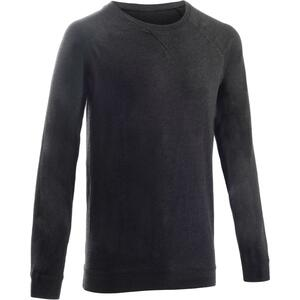 Sweatshirt 100 Pilates sanfte Gymnastik Herren dunkelgrau