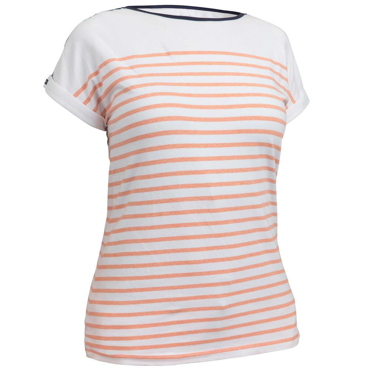 Bild 1 von Segelshirt kurzarm Sailing 100 Damen weiß/koralle