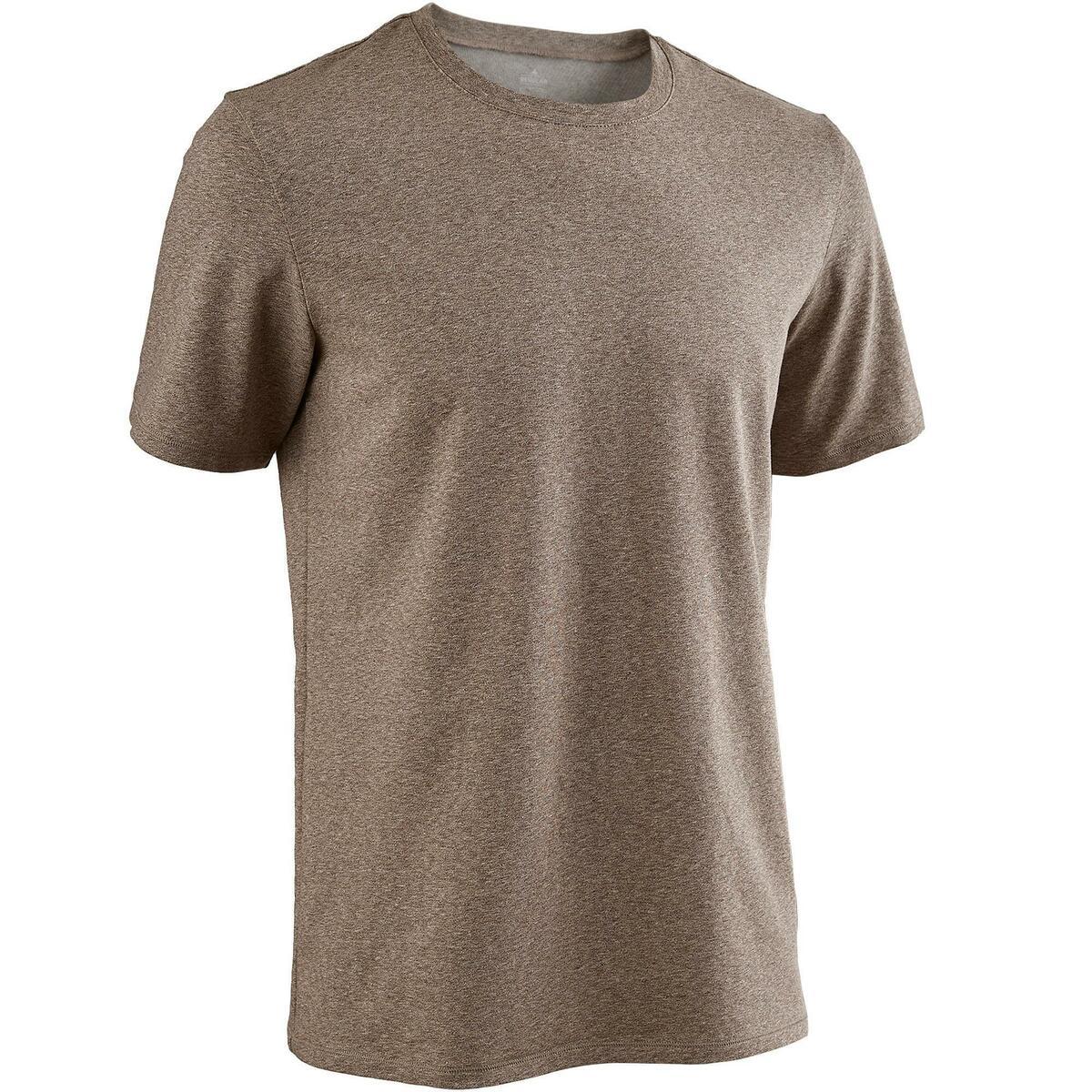 Bild 1 von T-Shirt 500 Regular Gym & Pilates Herren braun meliert