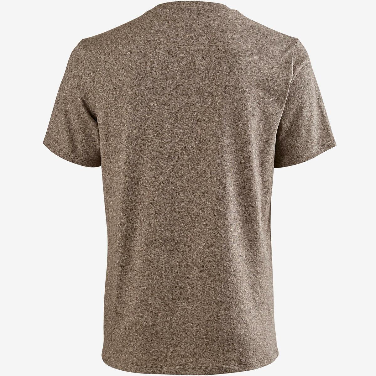 Bild 3 von T-Shirt 500 Regular Gym & Pilates Herren braun meliert