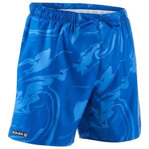 Kurze Boardshorts Surfen 100 Aqua blau
