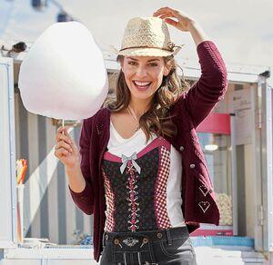 Laura Torelli COLLECTION Damen-Trachten-Cardigan mit einzigartigem Zopfmuster