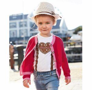 Liegelind Baby-Mädchen-Trachten-Strickjacke in zartem Pink