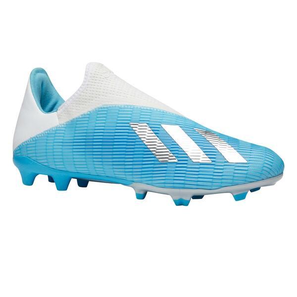 Fussballschuhe Nocken X 19.3 Laceless FG Erwachsene blau