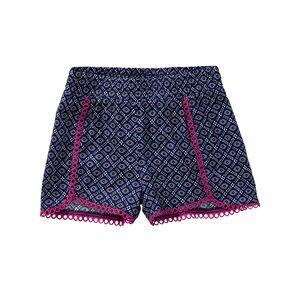 Kids Mädchen-Shorts mit pinker Spitze