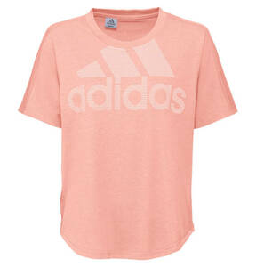 adidas             T-Shirt, Label-Print, Baumwolle-Mix, für Damen