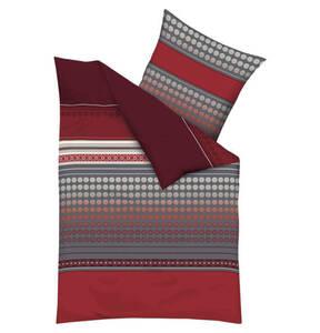 kaeppel             Bettwäschegarnitur, 100% Baumwolle, geometrisches Muster, Mako-Satin