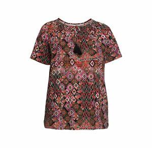 Laura Torelli plus (Gr. 44-58) Damen-T-Shirt im Carmen-Stil, große Größen