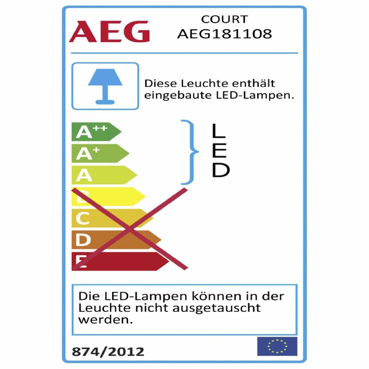 Bild 4 von AEG LED-Außenwandleuchte   Court