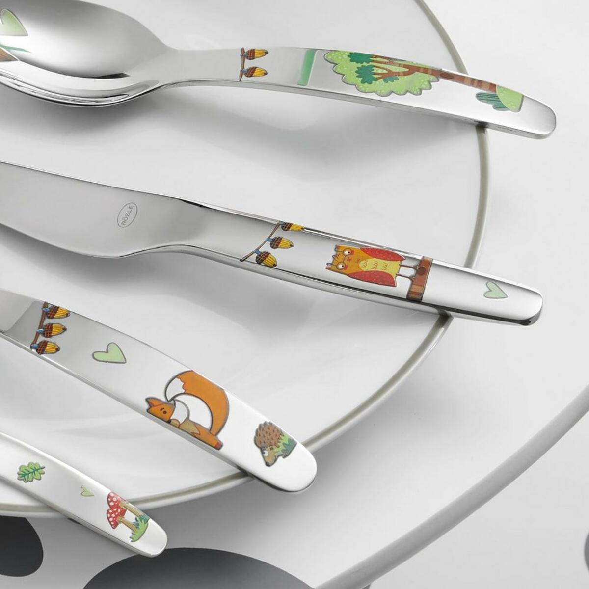 Bild 2 von Kinderbesteck Rösle Waldfreunde 4-teilig