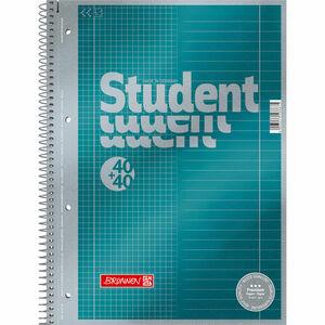 Brunnen Collegeblock Student Duo, A4, kariert und liniert, 80 Blatt