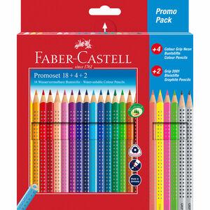Faber Castell Buntstifte-Set Colour Grip, 18+4+2