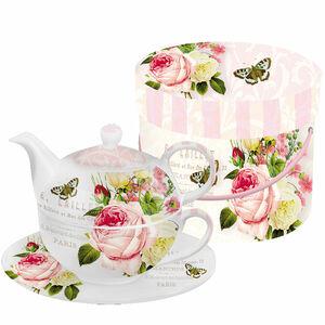 ppd Tea-4-One Set Jardin Rose
