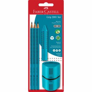 Faber Castell Bleistift-Set Grip 2001, B, türkis