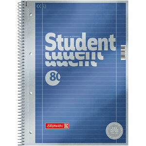 Brunnen Collegeblock Premium, 80 Blatt, A4, liniert