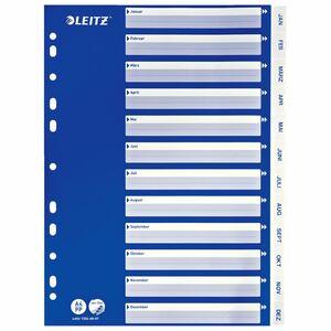 Leitz Register PP Jan-Dez 22,5  x  29,7 cm DIN A4
