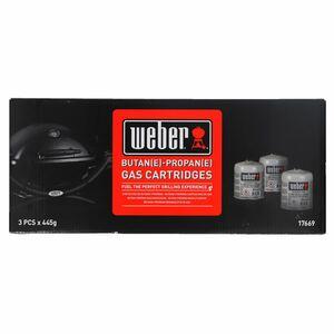 Weber 17669 3 Gas-Kartuschen