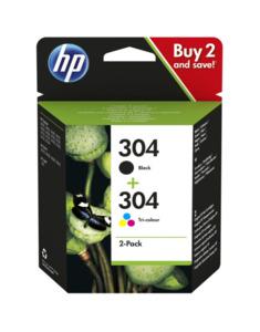 HP 304 Druckerpatrone, Schwarz & Farbe