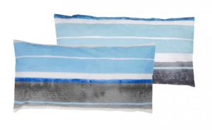 Home Ideas Living Renforcé-Kissenbezüge, 40 x 80 cm, blau gestreift