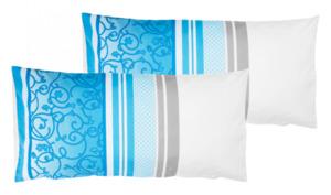 Home Ideas Living Renforcé-Kissenbezüge, 40 x 80 cm, hellblau gemustert
