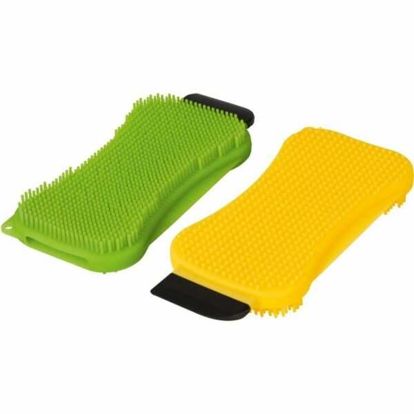 CLEANmaxx Reinigungspad Set Silikon mit Schaber