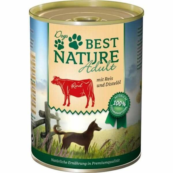 Best Nature Hundefutter Adult Rind mit Reis & Distelöl 3.73 EUR/1 kg