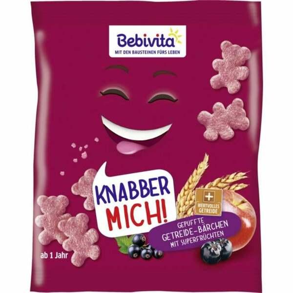 Bebivita Knabber Mich! Gepuffte Getreide-Bärchen mit Su 2.50 EUR/100 g